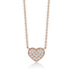 Kenny & co. - 14K Rose Gold Plated Steel Necklace with Heart Shape Crystal Pendant