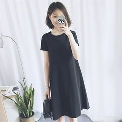 Dute - Short-Sleeve A-line Dress