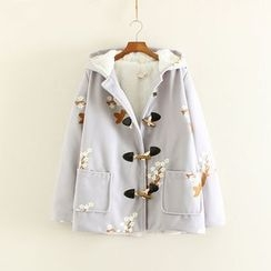 Mushi - Embroidered Hooded Coat