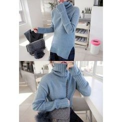 Miamasvin - Turtle-Neck Wool Blend Sweater