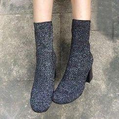 QQ Trend - Block Heel Short Boots