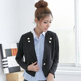 RingBear - Single Button Cropped Blazer