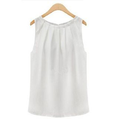 LIVA GIRL - Sleeveless Chiffon Blouse