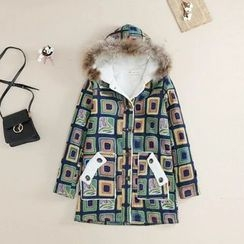 Angel Love - Printed Hooded Coat