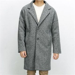THE COVER - Wool Blend Single-Breasted Coat