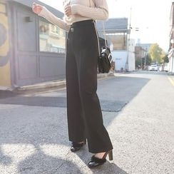 PPGIRL - Flat-Front Dress Pants