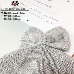 March Daisy - Kids Bow Knit  Beanie