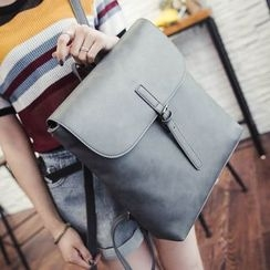 Secret Garden - Flap Faux Leather Backpack