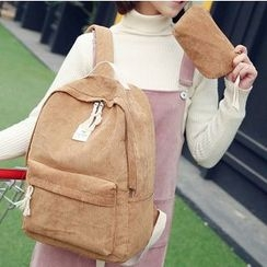 Sweet City - Set: Corduroy Backpack + Pouch
