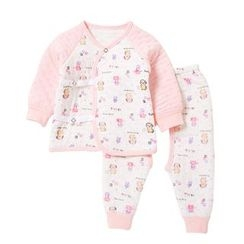 Tinsino - Baby Set: Long-Sleeve Printed Top + Pants