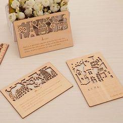 Show Home - Laser Cut Wooden Postcard