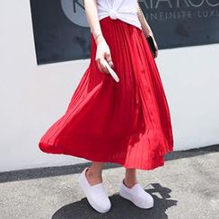 Jolly Club - Pleated Chiffon Long Skirt