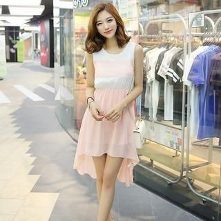 Envy Look - Sleeveless Dip-Back Chiffon Dress