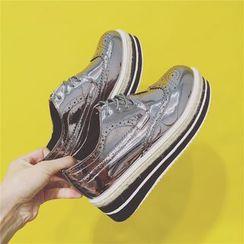 kokoin - Lace-Up Platform Brogue Shoes