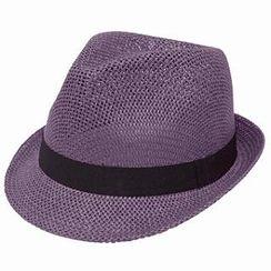 GRACE - 編織寬簷帽