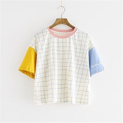 Storyland - Short-Sleeve Check T-Shirt