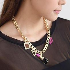 59 Seconds - Multi-Charm Chain Necklace