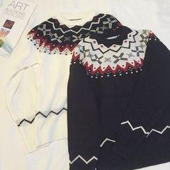 EEKO - Patterned Knit Top