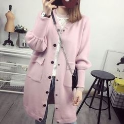 Maine - Buttoned Long Knit Cardigan
