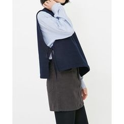 Someday, if - Sleeveless Tie-Side Wool Blend Top