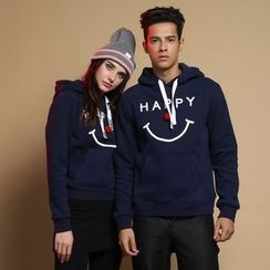 HappyTee - Drawstring Hooded Couple Pullover