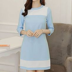Q.C.T - Panel 3/4-Sleeve Dress