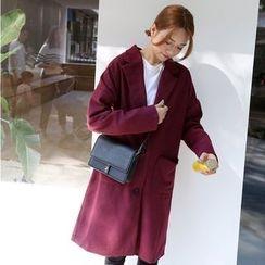 Karnel - 平駁領單排扣大衣