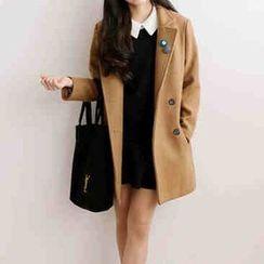OTTI - Plain Knit Lapel Coat