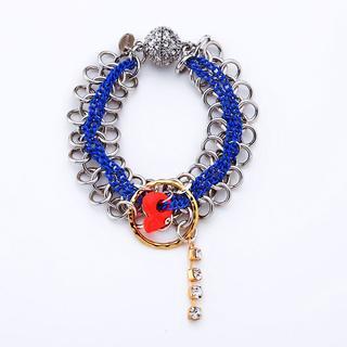 MIPENNA - Rhinestone Skull Chain Bracelet