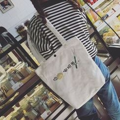 Youme - Embroidered Shopper Bag