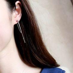 Love Generation - Sterling Silver Tasseled Earrings