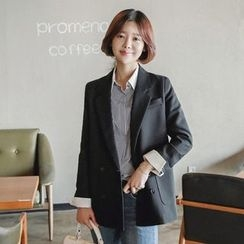 Seoul Fashion - Double-Breasted Blazer