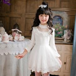 糖果雨 - 小童长袖连衣A字裙