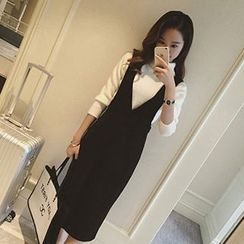 lilygirl - Slit Front Jumper Dress