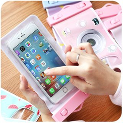 Momoi - Cartoon Print iPhone 6 Plus Waterproof Pouch