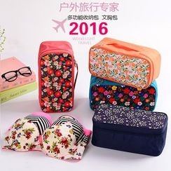 Evorest Bags - Travel Floral Print Zip Pouch