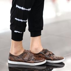 SO Central - Snake Print Velcro Sneakers