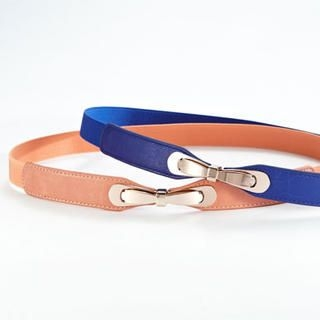 Moonbasa - Bow-Accent Slim Belt
