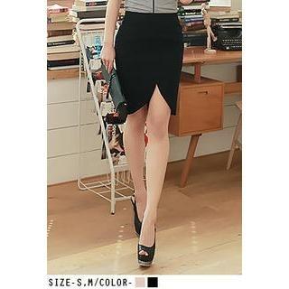 UUZONE - Slit-Front Pencil Skirt