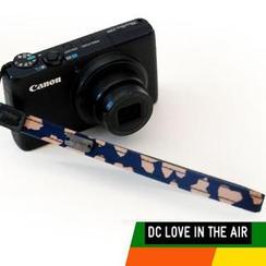 Vlashor - 蓝色底心型图案手带