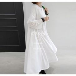 Miamasvin - Cotton Long T-Shirt Dress