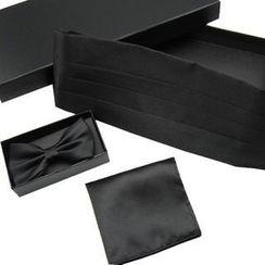 Xin Club - 男士礼服腰封 + 领结 + 胸巾礼盒套装
