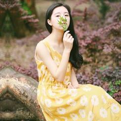 Clover Dream - Floral Print Drawstring Waist Tank Dress