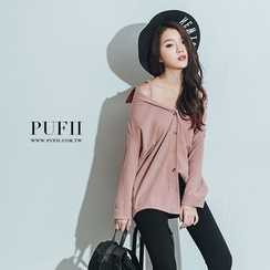 PUFII - Off-Shoulder Velvet Top