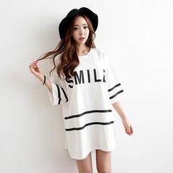 Envy Look - Logo Print Cotton Tunic