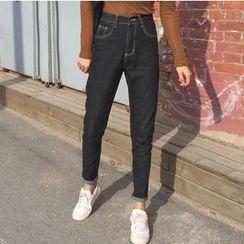 時尚麻豆家 - 修身牛仔褲