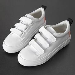 Pixie Pair - Lettering Velcro Sneakers
