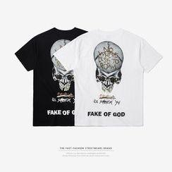Newin - Short-Sleeved Printed T-Shirt
