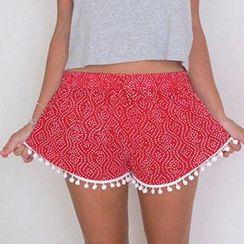Dream a Dream - Print Pom Pom Shorts