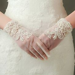 Neostar - Lace Applique Wedding Gloves